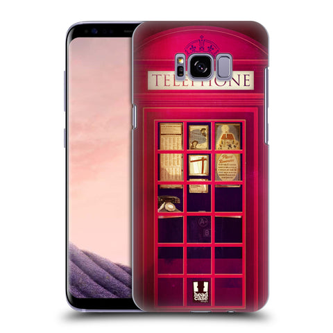 HEAD CASE DESIGNS TELEPHONE BOX HARD BACK CASE FOR SAMSUNG GALAXY S8+ S8 PLUS