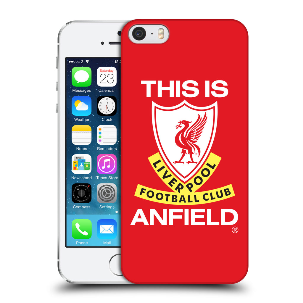 new styles 2699e bc705 Liverpool Football Club Retro Crest Hard Back Case for Apple iPhone 5 5S SE