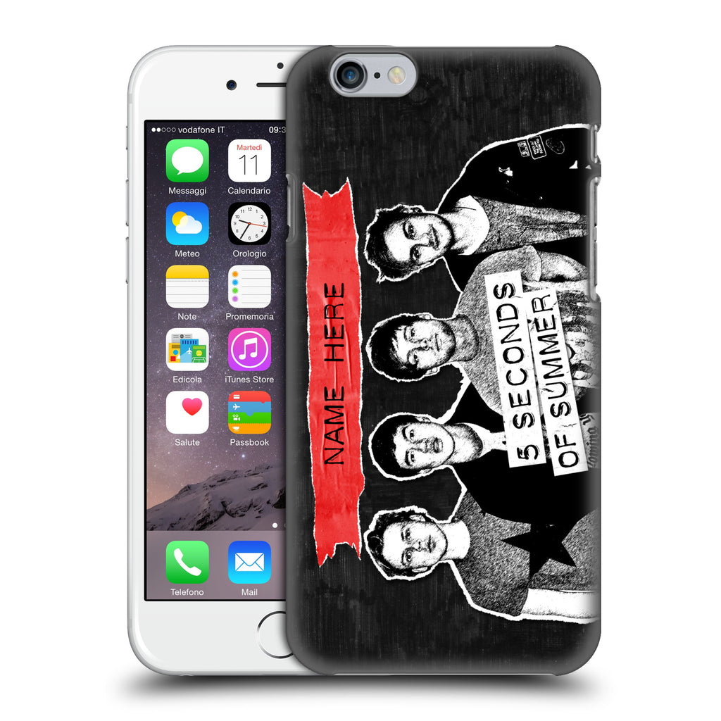 info for a6f7c a9c09 Custom Customised Personalised 5 Seconds of Summer Group Hard Back Case for  Apple iPhone 6 6S
