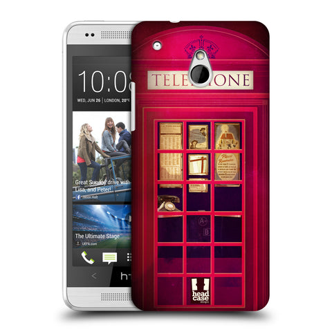 HEAD CASE DESIGNS TELEPHONE BOX HARD BACK CASE FOR HTC ONE MINI