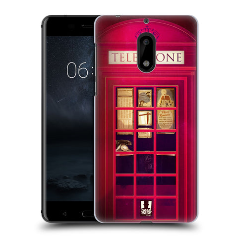 HEAD CASE DESIGNS TELEPHONE BOX HARD BACK CASE FOR NOKIA 6