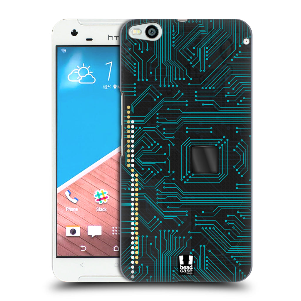 promo code f499c 133a9 HEAD CASE DESIGNS CIRCUIT BOARDS HARD BACK CASE FOR HTC ONE X9
