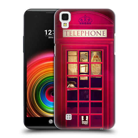 HEAD CASE DESIGNS TELEPHONE BOX HARD BACK CASE FOR LG X POWER