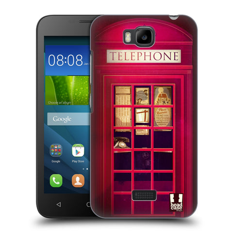 HEAD CASE DESIGNS TELEPHONE BOX HARD BACK CASE FOR HUAWEI Y541