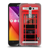 HEAD CASE DESIGNS TELEPHONE BOX HARD BACK CASE FOR ASUS ZENFONE 2 LASER ZE550KL