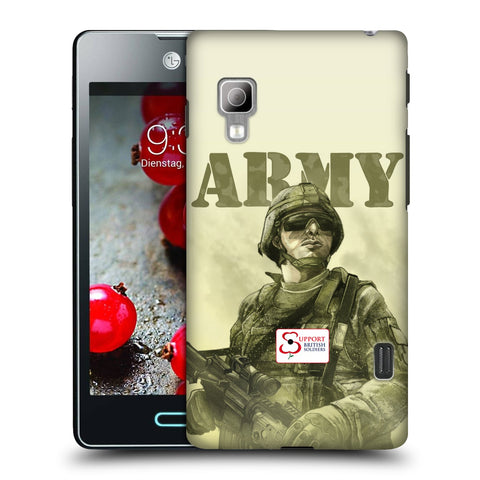 Support British Soldiers Sbs Official British Troops Hard Back Case for LG Optimus L5 II Dual E455