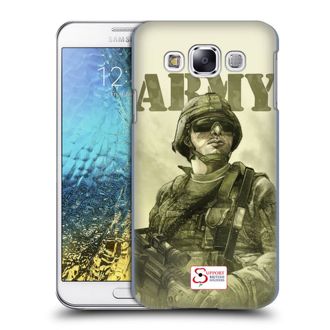 Support British Soldiers Sbs Official British Troops Hard Back Case for Samsung Galaxy E5