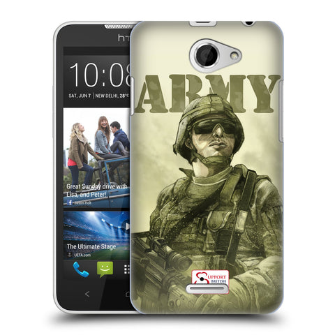 Support British Soldiers Sbs Official British Troops Hard Back Case for HTC Desire 516 / 516 Dual Sim
