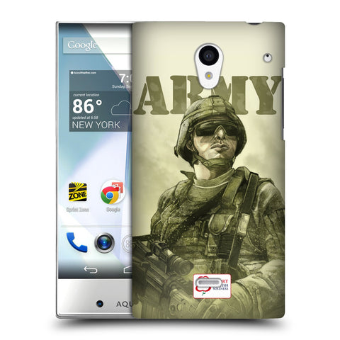 Support British Soldiers Sbs Official British Troops Hard Back Case for Sharp Aquos Crystal 305SH