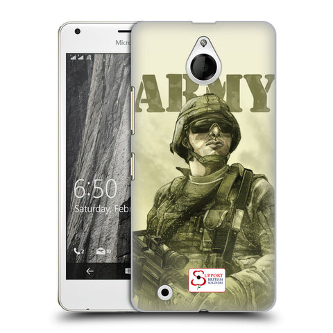 Support British Soldiers Sbs Official British Troops Hard Back Case for Microsoft Lumia 850