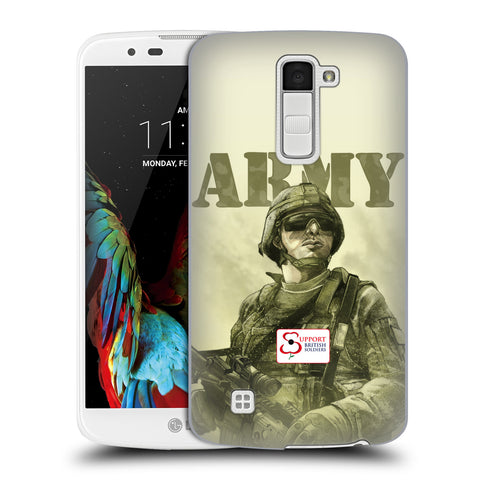 Support British Soldiers Sbs Official British Troops Hard Back Case for LG K10 / M2