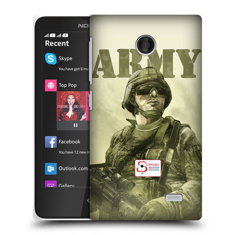 Support British Soldiers Sbs Official British Troops Hard Back Case for Nokia X / X Dual SIM