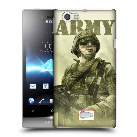 Support British Soldiers Sbs Official British Troops Hard Back Case for Sony Xperia Miro / ST23i