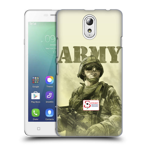 Support British Soldiers Sbs Official British Troops Hard Back Case for Lenovo Vibe P1m