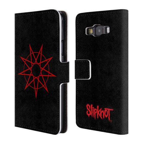 Official Slipknot Key Art Leather Book Wallet Case Cover For Samsung Galaxy A3