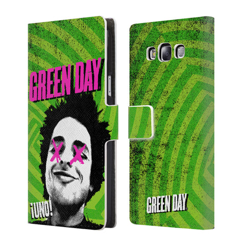 Official Green Day Key Art Leather Book Wallet Case Cover For Samsung Galaxy E7