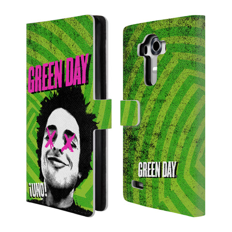 Official Green Day Key Art Leather Book Wallet Case Cover For LG G4 / H815 / H810
