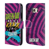Official Green Day Key Art Leather Book Wallet Case Cover For Samsung Galaxy S6