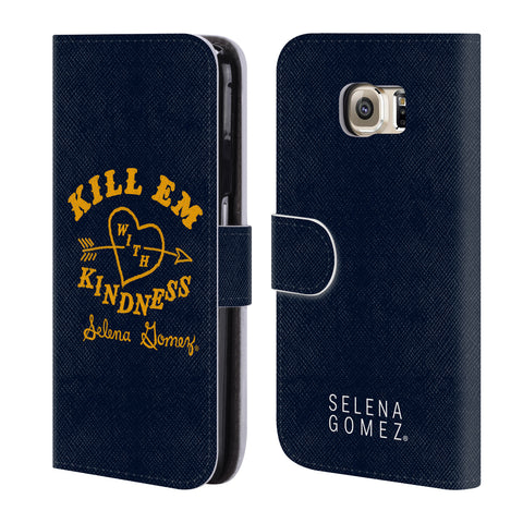 Official Selena Gomez Revival Art Leather Book Wallet Case Cover For Samsung Galaxy S6