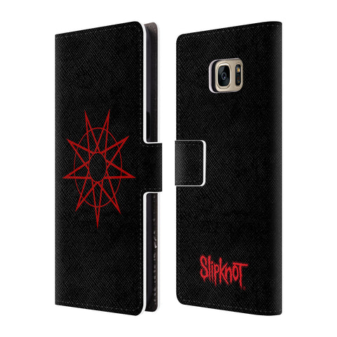 Official Slipknot Key Art Leather Book Wallet Case Cover For Samsung Galaxy S7 edge