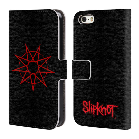 Official Slipknot Key Art Leather Book Wallet Case Cover For Apple iPhone 5 / 5s / SE