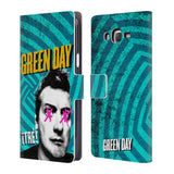 Official Green Day Key Art Leather Book Wallet Case Cover For Samsung Galaxy J7