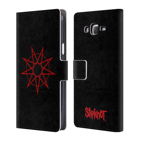 Official Slipknot Key Art Leather Book Wallet Case Cover For Samsung Galaxy J7
