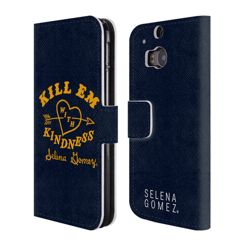 Official Selena Gomez Revival Art Leather Book Wallet Case Cover For HTC One M8 / M8 Dual Sim