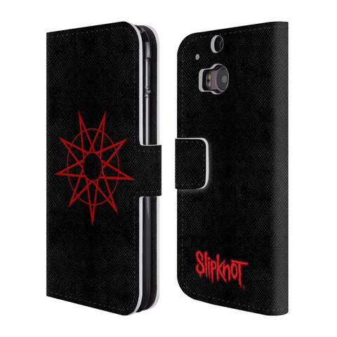 Official Slipknot Key Art Leather Book Wallet Case Cover For HTC One M8 / M8 Dual Sim
