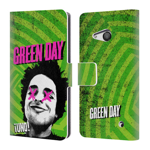 Official Green Day Key Art Leather Book Wallet Case Cover For Microsoft Lumia 550