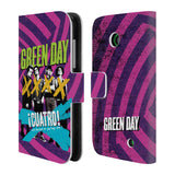 Official Green Day Key Art Leather Book Wallet Case Cover For Nokia Lumia 630
