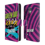 Official Green Day Key Art Leather Book Wallet Case Cover For Samsung Galaxy Note 4