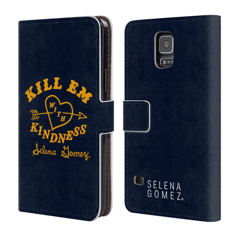 Official Selena Gomez Revival Art Leather Book Wallet Case Cover For Samsung Galaxy S5 / S5 Neo