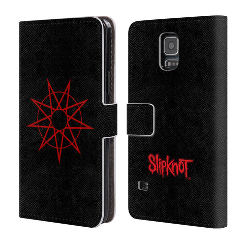 Official Slipknot Key Art Leather Book Wallet Case Cover For Samsung Galaxy S5 / S5 Neo