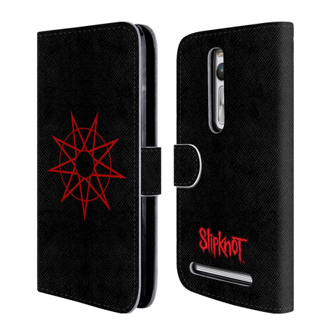 Official Slipknot Key Art Leather Book Wallet Case Cover For Zenfone 2 / Deluxe