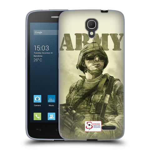 Support British Soldiers Sbs Official British Troops Soft Gel Case for Alcatel Pop 2 (4.5) / Dual