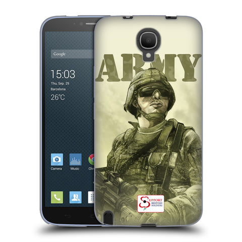 Support British Soldiers Sbs Official British Troops Soft Gel Case for Alcatel Hero 2