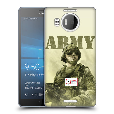 Support British Soldiers Sbs Official British Troops Soft Gel Case for Microsoft Lumia 950 XL