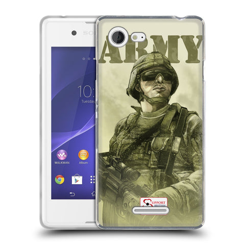 Support British Soldiers Sbs Official British Troops Soft Gel Case for Sony Xperia E3 / D2203 / D2206