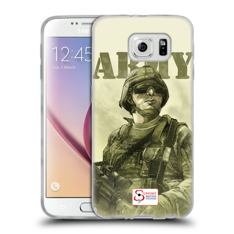 Support British Soldiers Sbs Official British Troops Soft Gel Case for Samsung Galaxy S6