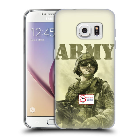 Support British Soldiers Sbs Official British Troops Soft Gel Case for Samsung Galaxy S7