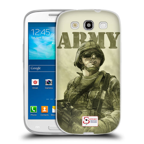 Support British Soldiers Sbs Official British Troops Soft Gel Case for Samsung Galaxy S3 III I9300