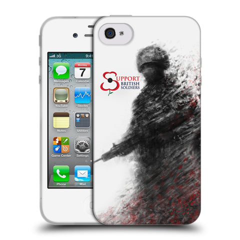 Support British Soldiers Sbs Official Support British Soldiers SBS Official Soft Gel Case for Apple iPhone 4 / 4S