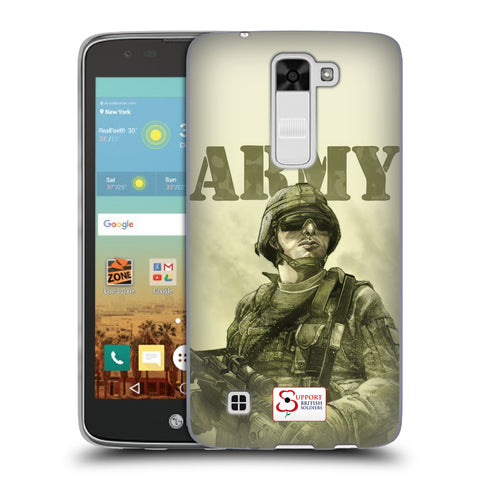 Support British Soldiers Sbs Official British Troops Soft Gel Case for LG K7 / Tribute 5