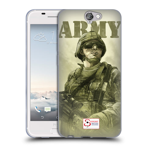Support British Soldiers Sbs Official British Troops Soft Gel Case for HTC One A9