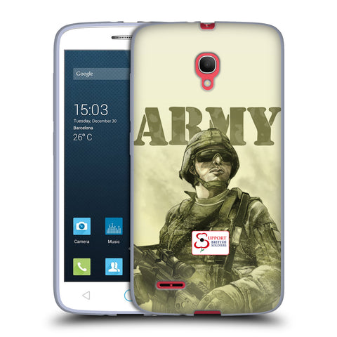 Support British Soldiers Sbs Official British Troops Soft Gel Case for Alcatel Pop 2 (5) / Dual