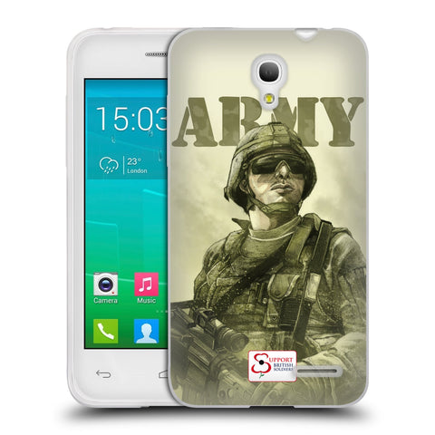 Support British Soldiers Sbs Official British Troops Soft Gel Case for Alcatel Pop S3