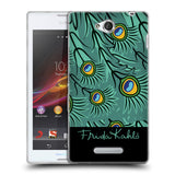 Official Frida Kahlo Peacock Soft Gel Case for Sony Xperia C / C2305