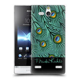 Official Frida Kahlo Peacock Soft Gel Case for Sony Xperia U / ST25i Kumquat