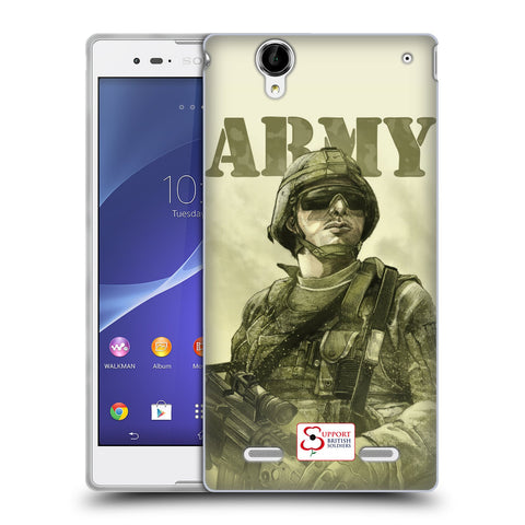 Support British Soldiers Sbs Official British Troops Soft Gel Case for Sony Xperia T2 Ultra / T2 Dual